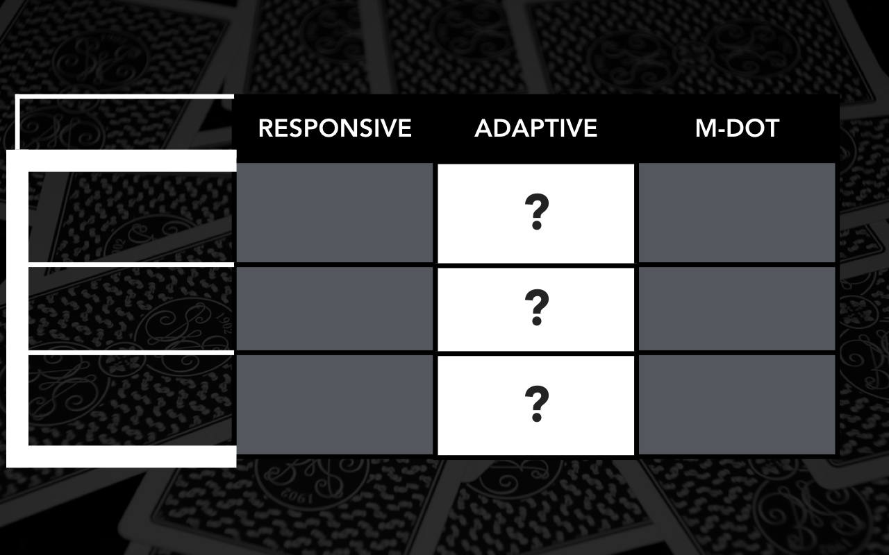 What is adaptive?